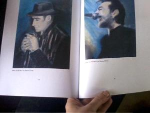 A photo of some of her artwork featured in issue six of  print journal 'A New Ulster'.