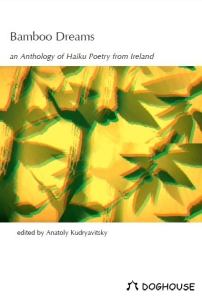 The cover of Bamboo Dreams, the first national collection of haiku from Ireland. Marion has a series of seven poems in this collection.