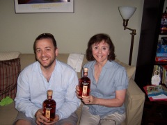 L.S. and her son-in-law gave each other the same bourbon for Mother's Day/his birthday. Great minds think alike.