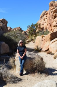 Kathleen in Joshua Tree National Park. She has a thing about rugged landscapes.