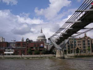 St Paul's Cathedral and Millenium Bridge, London