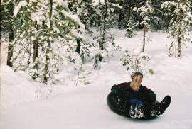 More family fun--sledding!