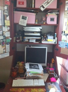 The author's desk.