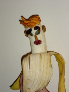 Mr. Banana Head -- the author's breakfast creation.
