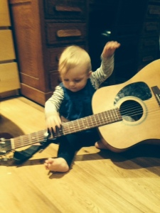 The author's daughter, a budding musician.