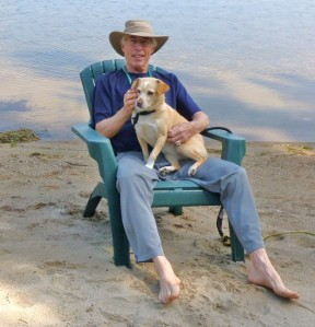 Photographer Philip McAlary and Ginger.