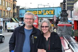 No, that's not Minneapolis in the background. Kathleen and her husband Jim visited London and Northumberland in April 2014.
