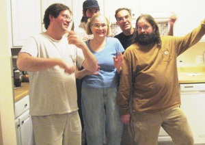 "​""Terri"" & her ""boys"". She's not that short. They are all tall."