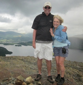 Triumphant atop Cat Bells.