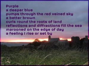 Art credit - Oonah Joslin (Sunset on Lindisfarne, July 2014)