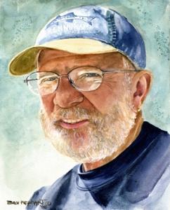 Painting of Mel by Bev Kephart.