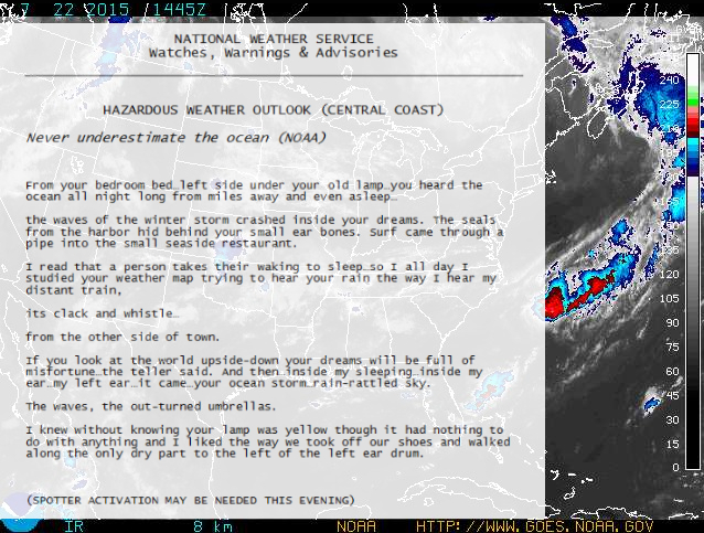 Hazardous Weather Outlook by Jeanie Tomasko