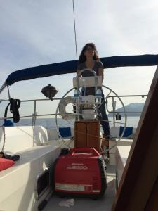 Sailin' da boat.
