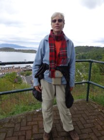 Shorn and skinny after a month hiking in Scotland - here, in Oban