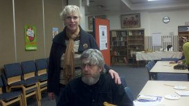 Valerie Nieman with Timothy Russell, poet and mentor, in Weirton, WV.