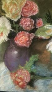 Vases with Roses - Artwork (a pastel).
