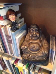 George and Buddha hanging out.