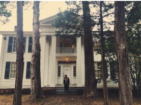 Visiting the home of William Faulkner.
