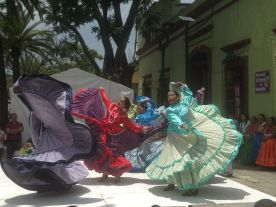 Traditional Oaxacan dancers.