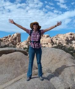 Cynthia Anderson at Wonderland Wash, Joshua Tree National Park