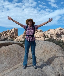 Cynthia Anderson at Wonderland Wash, Joshua Tree National Park