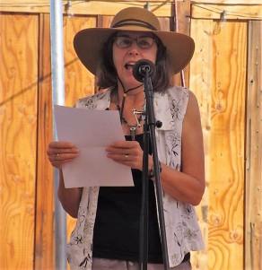 Cynthia Anderson reading at space cowboy books, joshua tree ca