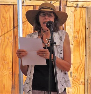 Cynthia Anderson reading at space cowboy books, joshua tree ca