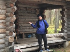 Cheryl at cabin